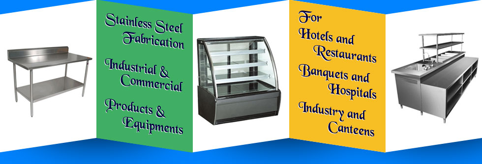 stainless steel display counters - food counters - commercial display counters tables in ludhiana punjab india